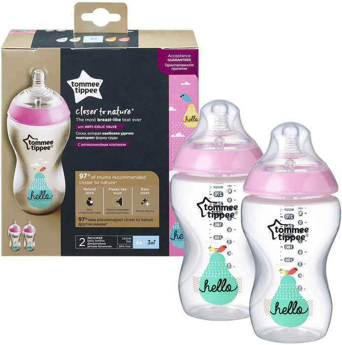 Tommee Tippee - kit de 2 mamadeiras decoradas 340 ml Anne Claire Baby Store