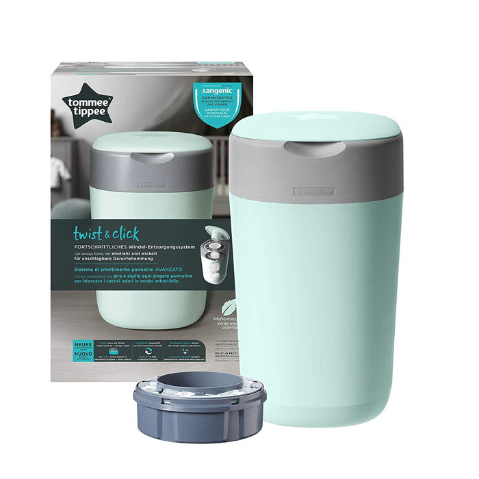 Tommee Tippee Sangenic Lixeira Elimina Odores e Germes Bestseller Anne Claire Baby Store Ltd. NOVO! Twist and Click Verde