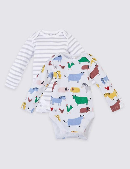 Unissex - Bodies Dreamskin® Farmyard - Kit com 2 ROUPA M&S