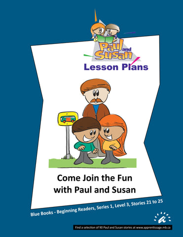 Paul and Susan - Blue Books 21 to 25 Lesson plans