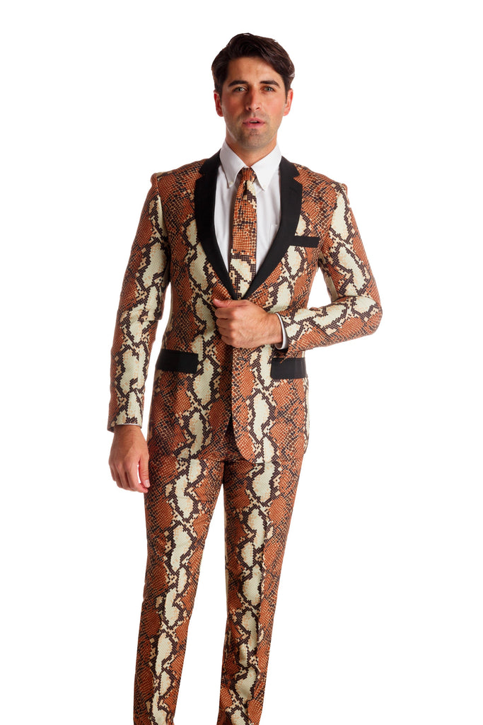 Rattlesnakes & Condoms Party Suit | Snakeskin New Years Eve Suit