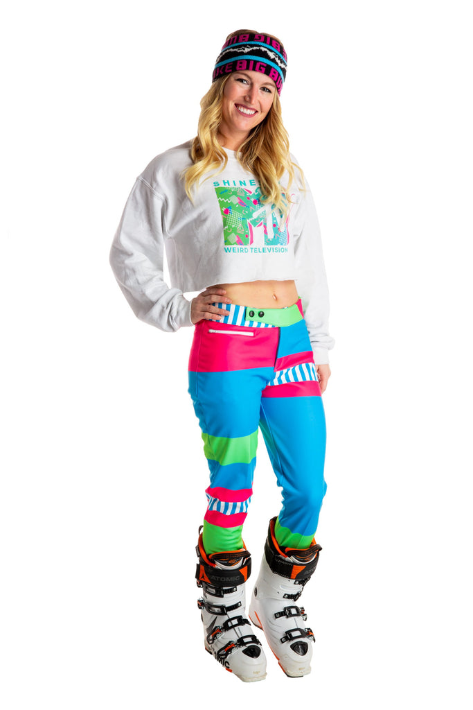 The I Wanna Dance With Somebodies Neon Colorblock Ski Pant