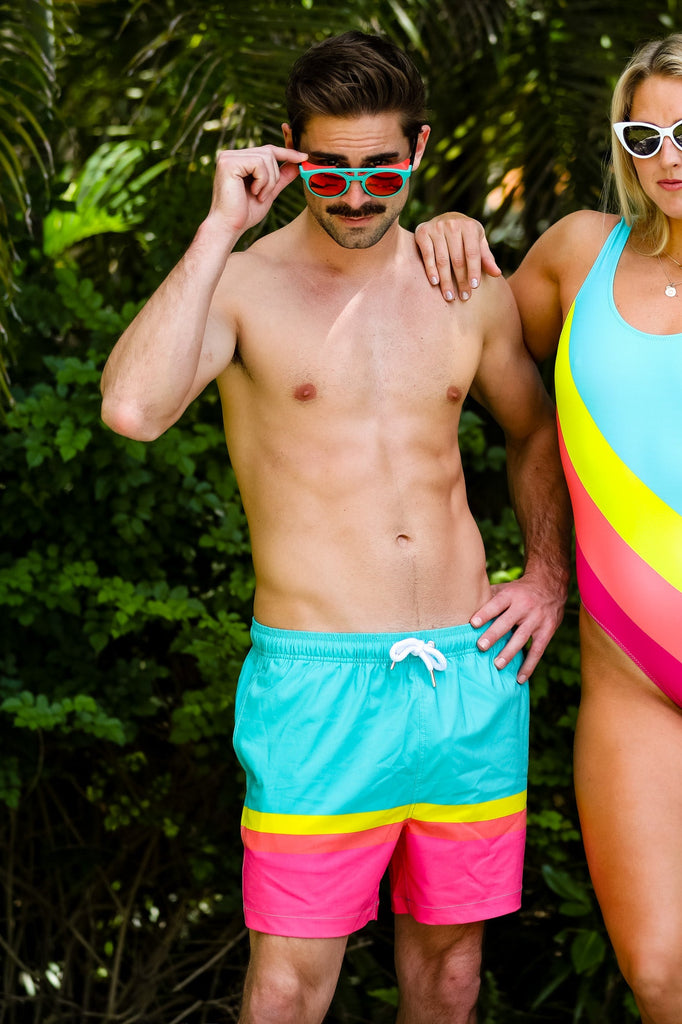The Thigh Guy Retro Swim Trunks