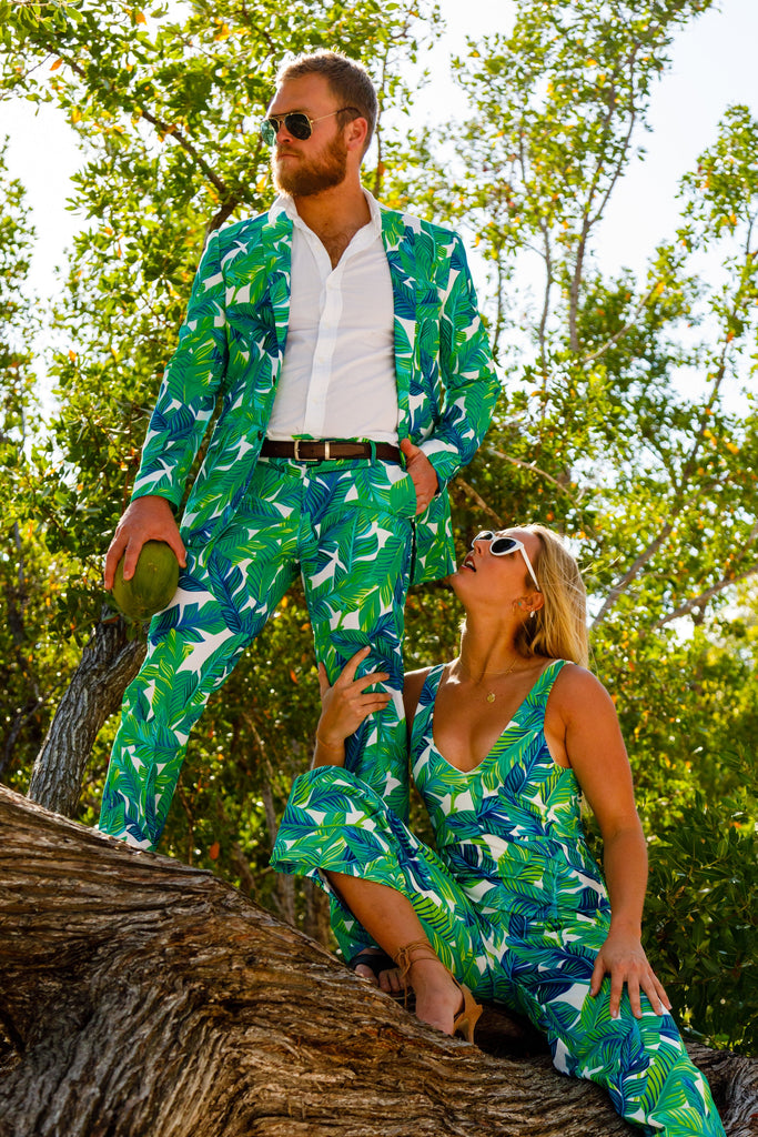 The Sex Jungle Green Palms Blazer