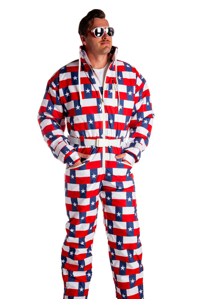 Even The Dumps Are Bigger In Texas | Texas Flag Ski Suit