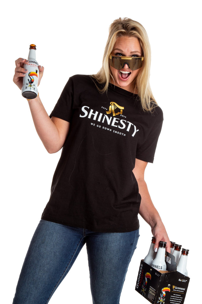 The We Go Down Smooth | Womens Guinness Beer Logo Shinesty T-Shirt
