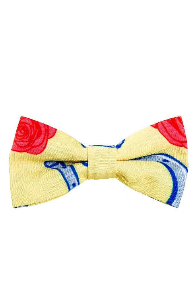 Yellow Horseshoes Bow Tie