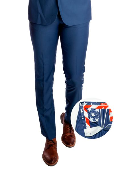Madison Dusty Blue Dress Pants