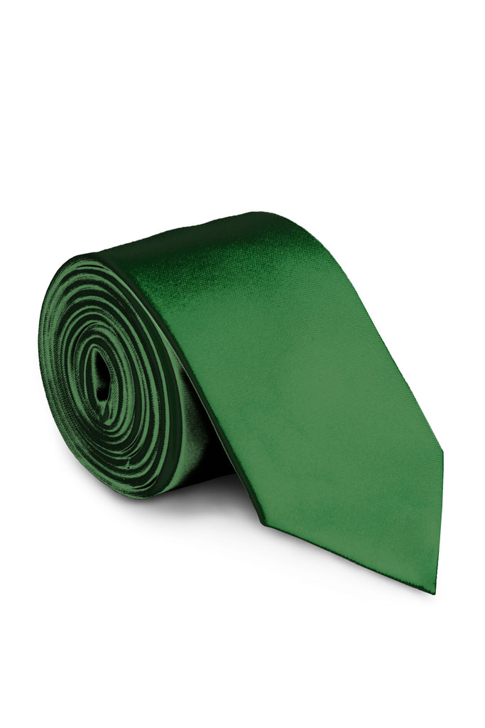 Hunter Green Solid Suit Tie