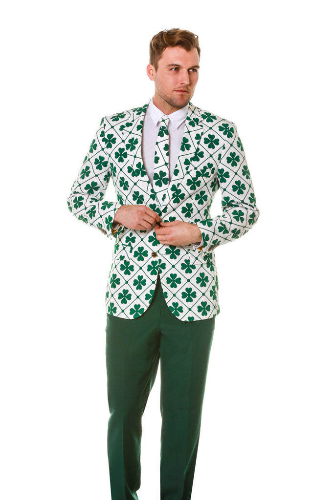 The Four Leaf St. Patrick's Day Shamrock Blazer & Tie
