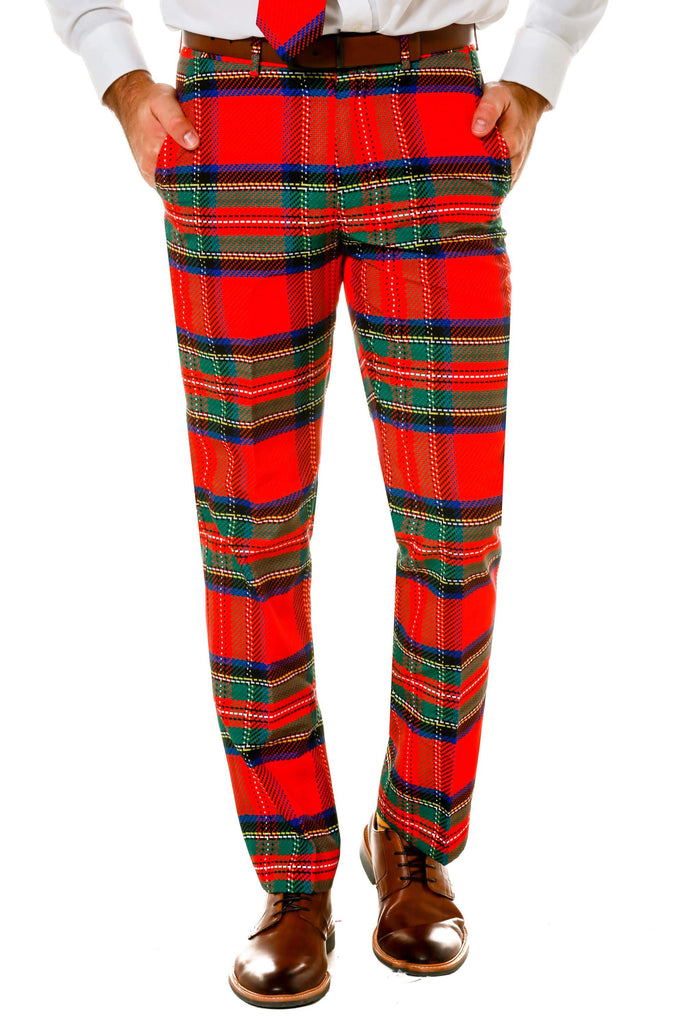 Red Plaid Party Pants