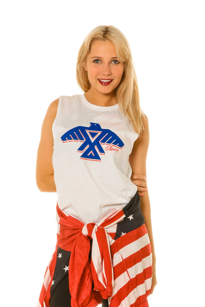 Top Of The Totem Womens Usa Tank Top