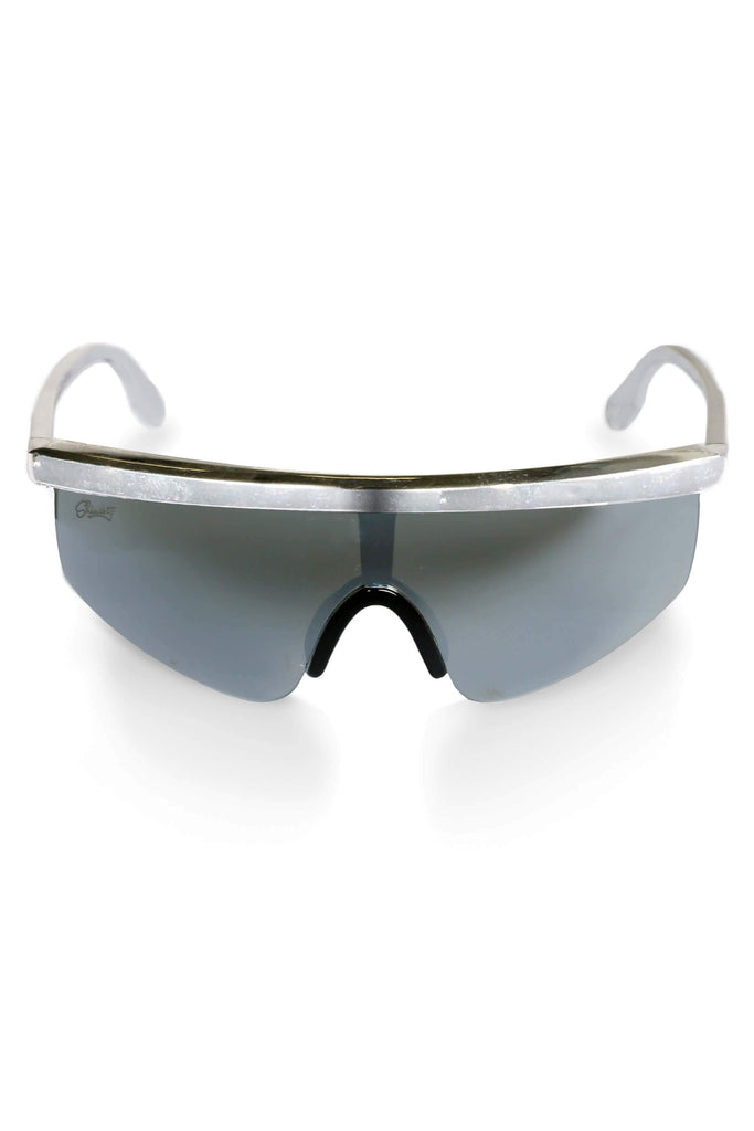 The Silver Agassi 90s Retro Blade Sunglasses