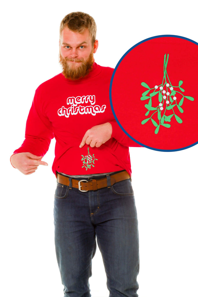 The Mysterious Mistletoe Christmas Turtleneck