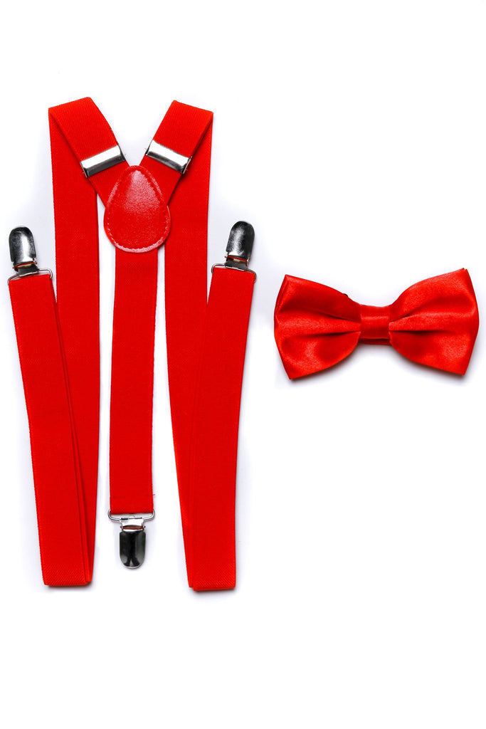 The Red Suspenders And Bow Tie Combo