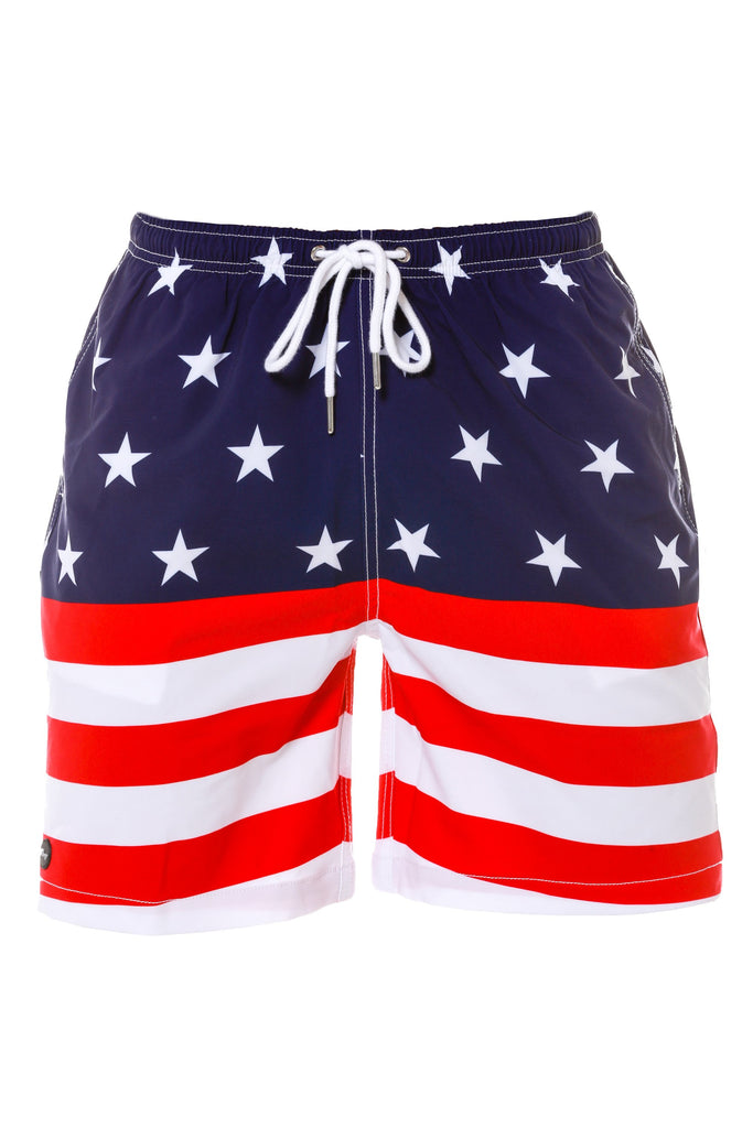 The Trial By Combat USA American Flag Swim Trunks