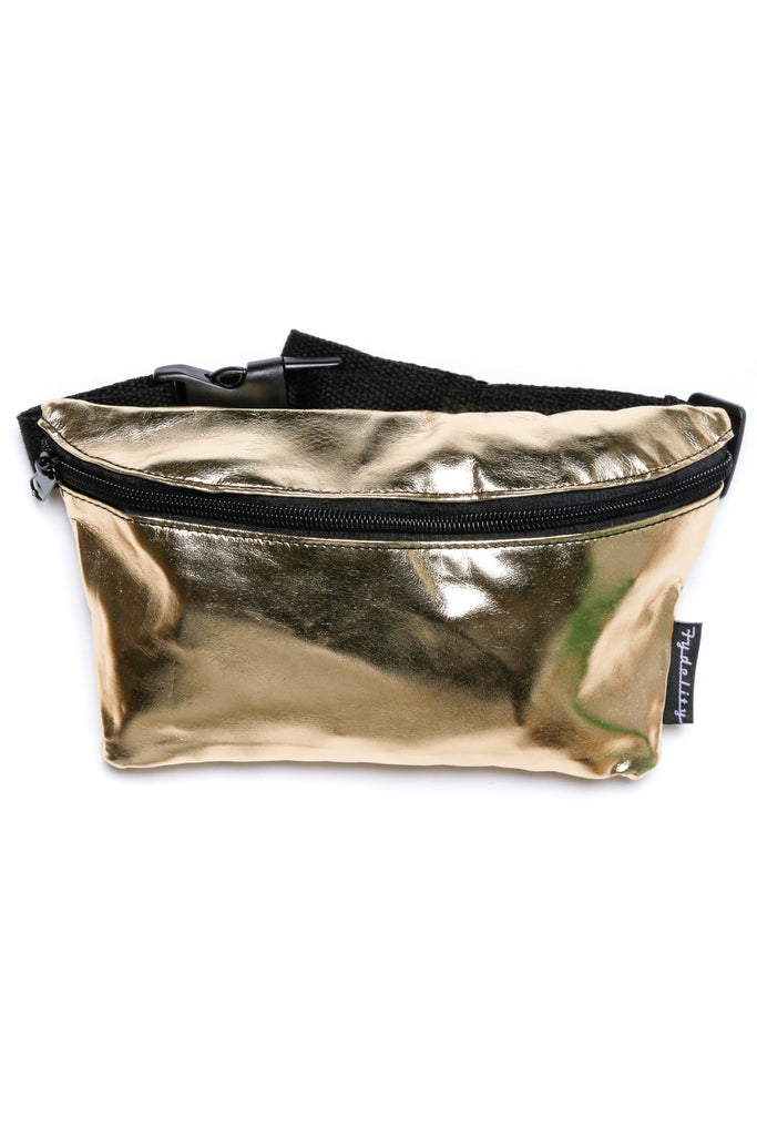 Gold Digger Metallic Gold Fanny Pack