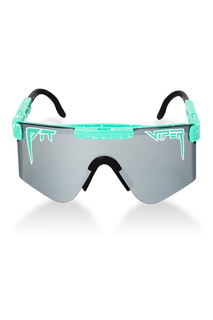 The Poseidon Teal Mirrored Pit Viper Sunglasses