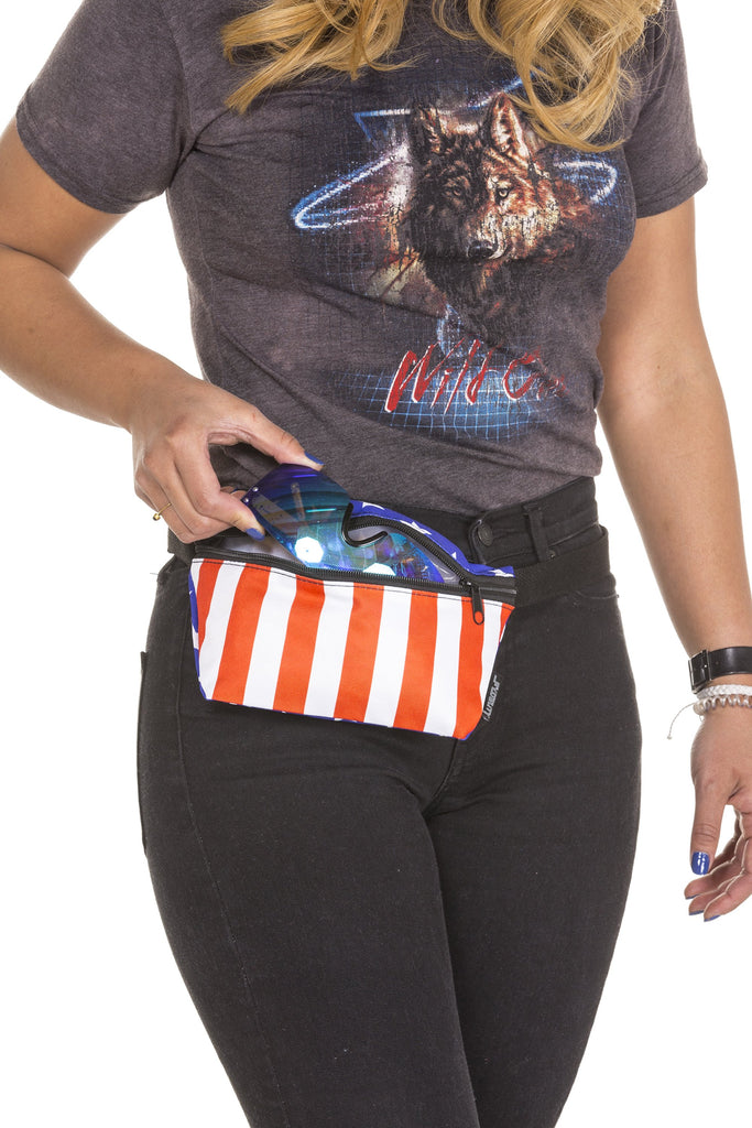The Spangled Smuggler Ladies USA Print Fanny Pack