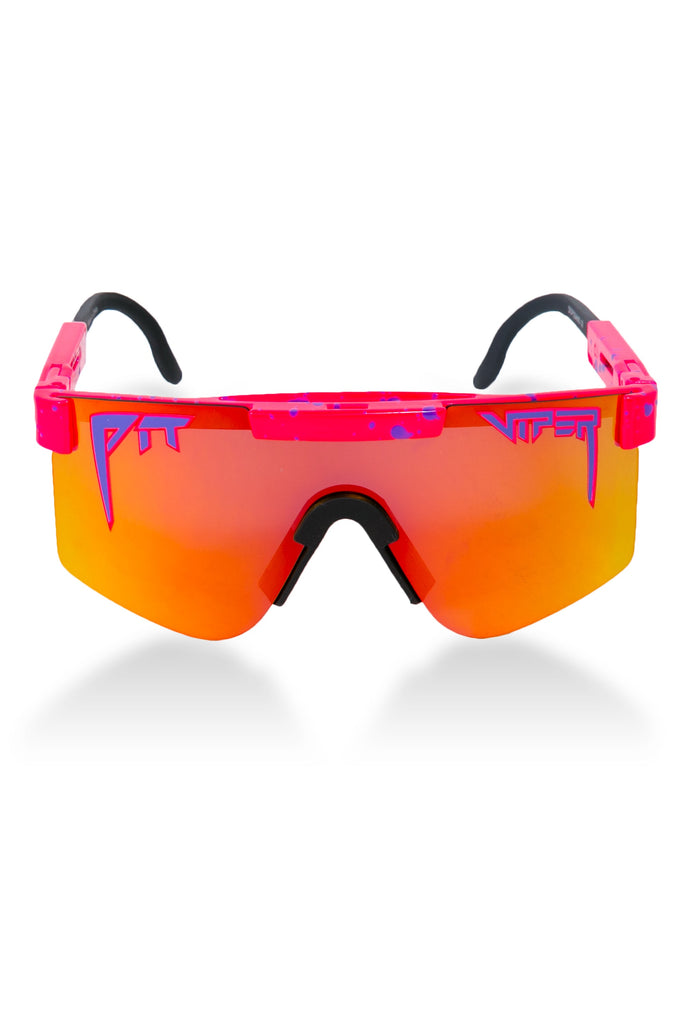 The Radicals Pink Mirrored Lens Pit Viper Sunglasses