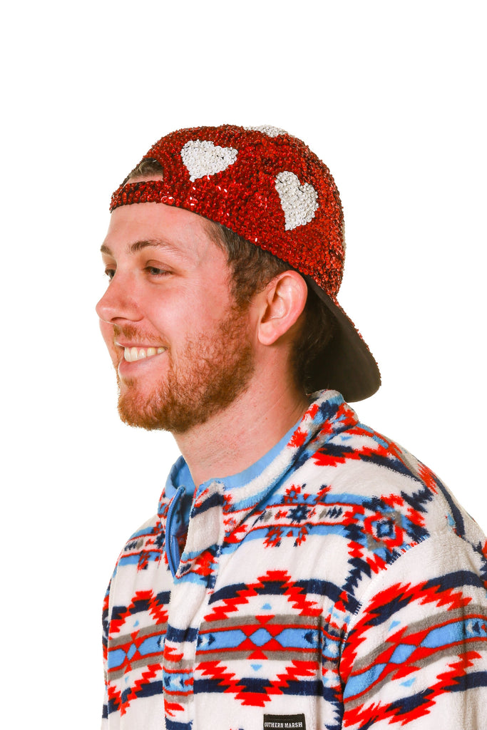 The Red Head Red Sequin Valentine's Day Hat