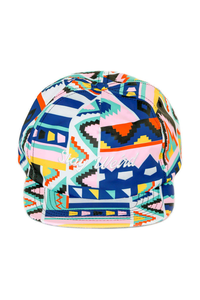 The Navayolo Stay Weird Pink 90s Print Snapback
