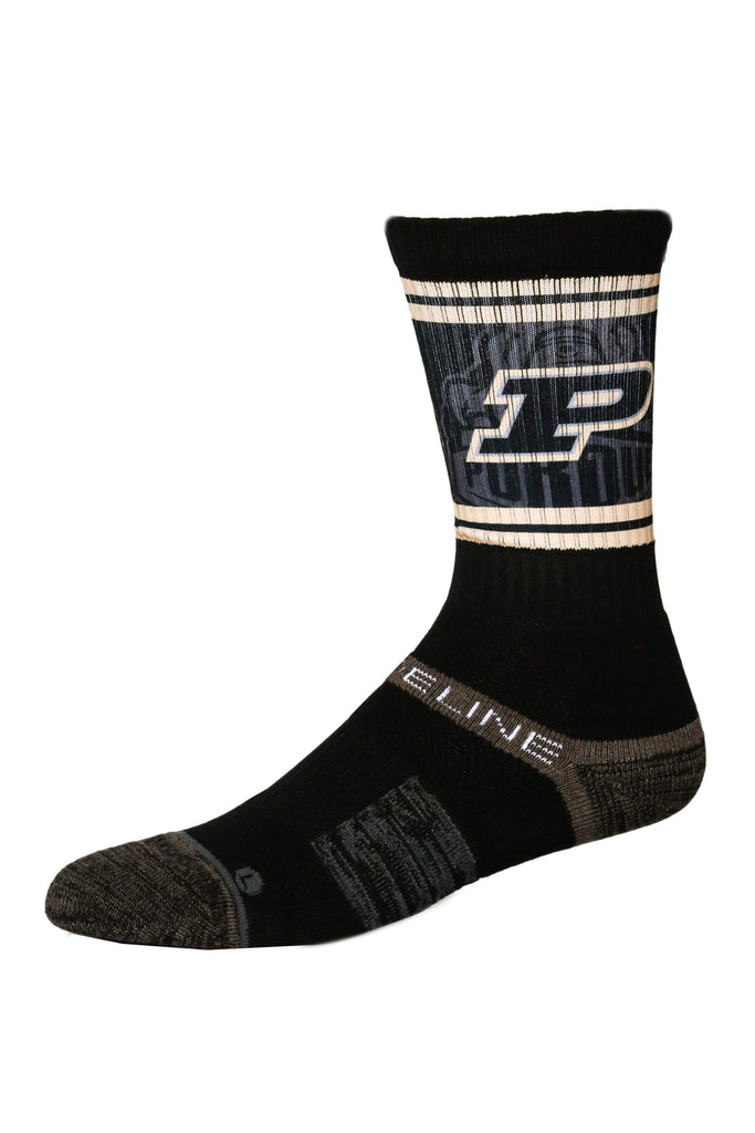 The Purdue Zoo Black Purdue Crew Socks