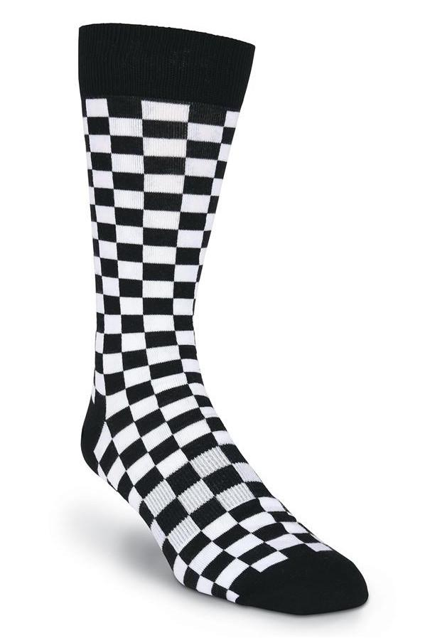 The Finish Line Black And White Checkerboard Socks
