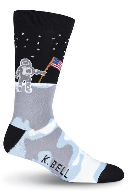 The Armstrongs Man On the Moon Crew Socks