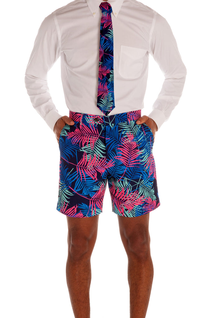The Tropical Tycoon Neon Leaves Tie