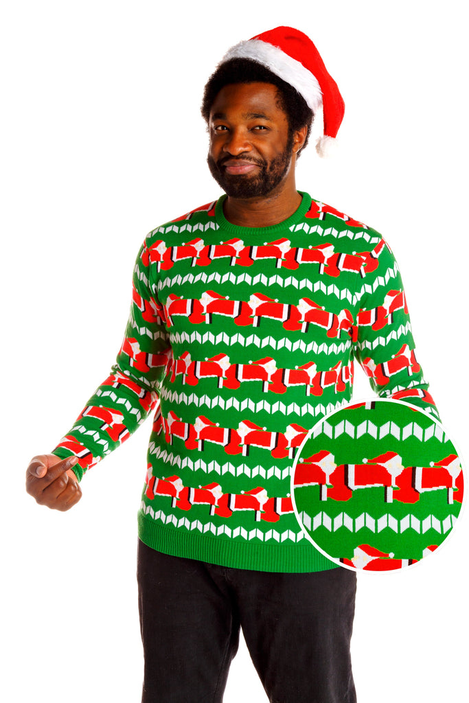 The Human Santapede Men's Christmas Sweater