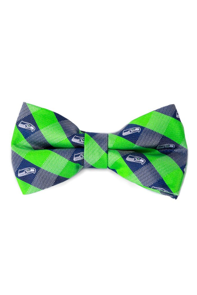 Seattle Seahawks Checkered Bow Tie