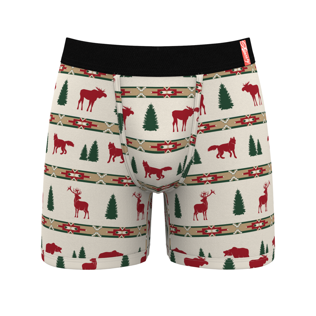 Free Gift Smooch Print Ball Hammock Boxer Briefs