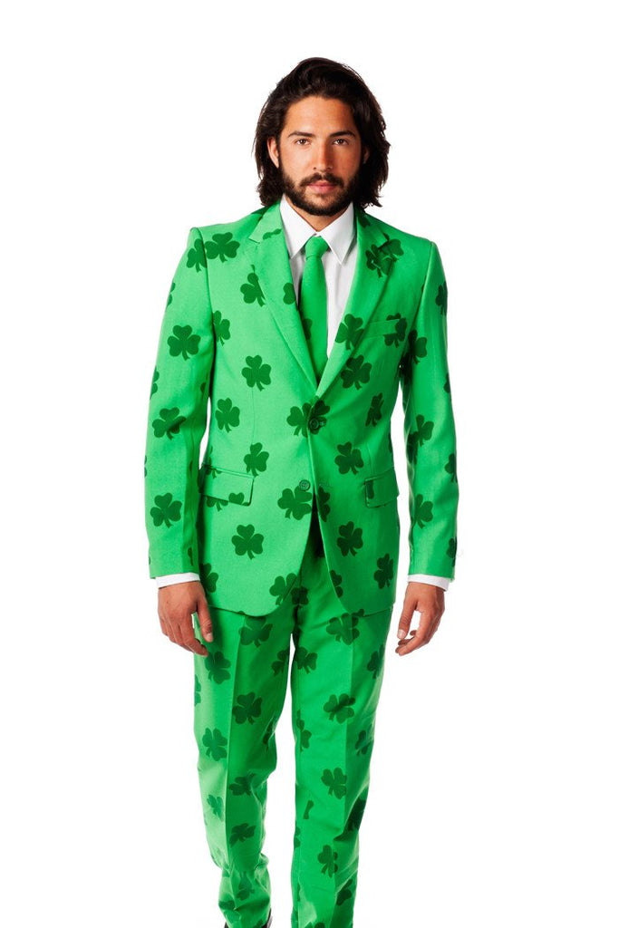St. Patrick's Day Irish Shamrock Party Blazer & Tie (a.k.a The Celtic Gentleman) by Opposuits
