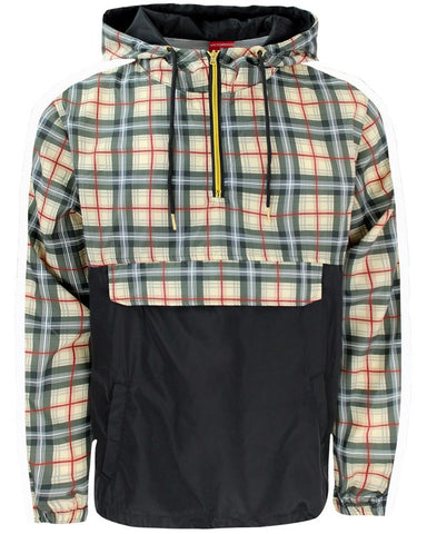 Plaid Anorak Jacket