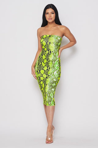 Python Dress - Lime