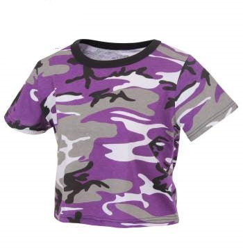 Ultra Violet Camo Crop Top