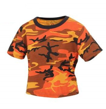 Savage Orange Camo Crop Top