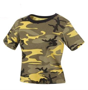 Stinger Yellow Camo Crop Top