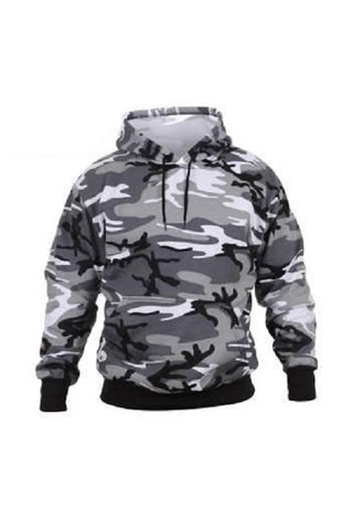 Pullover hooded sweatshirt - City camo