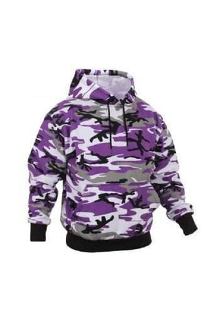 Pullover hooded sweatshirt - Ultra Violet camo