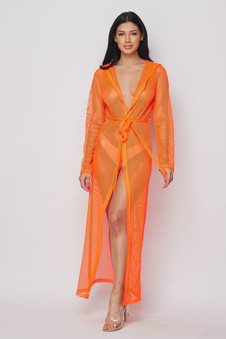 Aloha Fishnet Duster Cover Up - Monarch