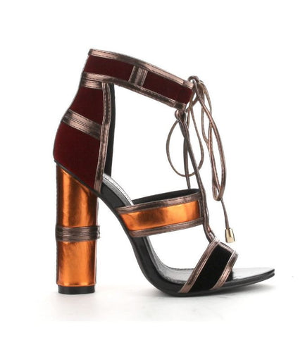 Maura Caged Block Heel