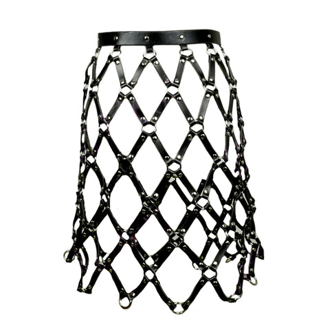 Leather Caged Skirt