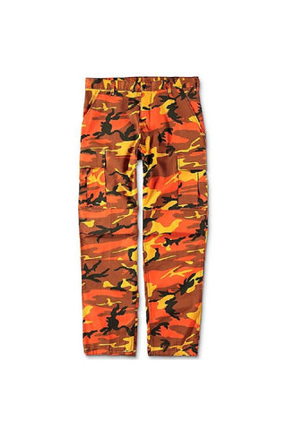 Camo BDU pants - Savage Orange