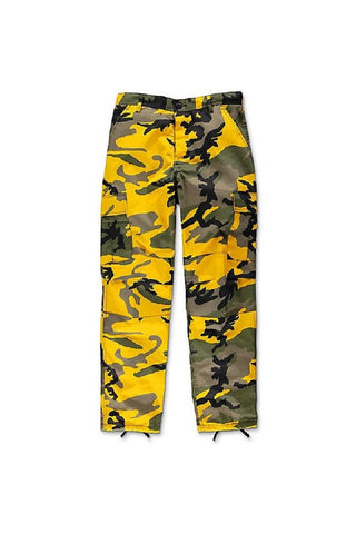 Camo BDU pants -  Stinger Yellow