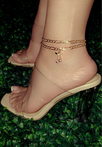 Pink Cherry Anklet