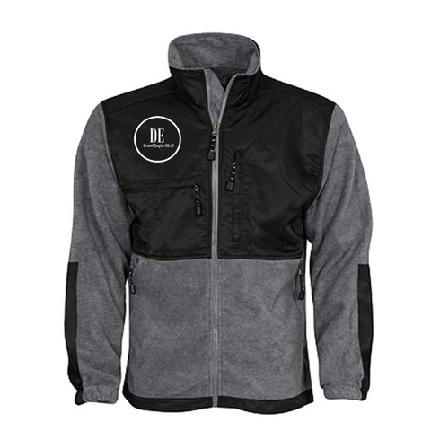 Grey and Black Fleece Jacket