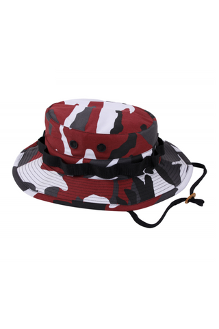Camo BDU Bucket Hat - Red