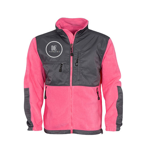 Pink and Charcoal Fleece Jacket